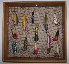 Fishing lures on pinterest fishing lures vintage for Fishing lure display