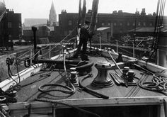 SS Endurance being refitted in Regent Dry Dock for Shackelton's 1914 Antarctic expedition.