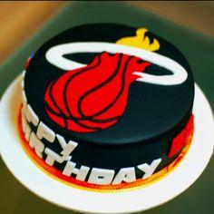 Miami Heat cake by Cherry's Cakes itscherryscakes.blogspot.com