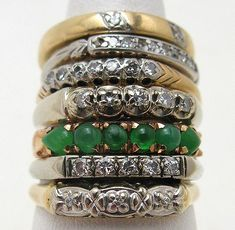 Love these. vintage stacking rings