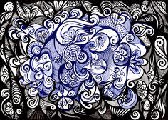 Blue and black wonder by Licia Rubenstein