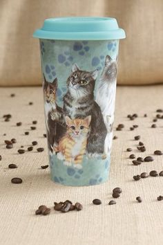"""Great Gifts for All - Popular Creations Cat """"Eco Fusion"""" Double Wall Cup"""