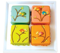 Birds of Fancy Mosaic Cake