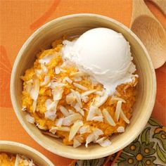 Baked Sweet Potato Pudding    Dress up your sweet potatoes with this decadent recipe.