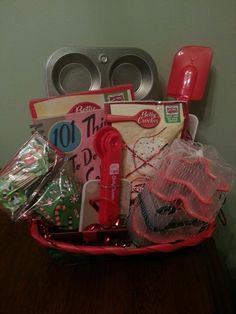Baking Gift Basket - christmas gift basket idea - dollar store gift ideas