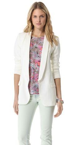 Ashlees Loves: Shoulder Play info @ashleesloves.com #SMYTHE #LongShawlBlazer #women's #fashion #blazer #style