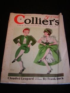 "1934 Vintage St. Patrick's Day Collier's magazine cover.  ""The National Weekly"" March 24 1934 Antique St. Patty's Saint"