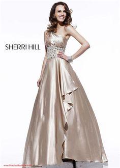 Sherri Hill Dress 2818 Beige