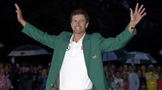 Repin this if you think Adam Scott looks great in the Masters Tournament green jacket!