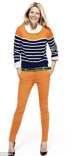 orange preppy stripes