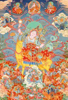 Yogini | Tibetan Buddhist Yogini (Super Large Thangka)  #Tibetan # Thangka