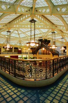 The Rookery, Chicago.  Frank Lloyd Wright.  #Architecture #Modernism #FrankLloydWright