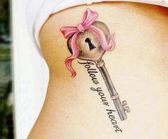 tattoo idea, beauti tattoo, feet tattoos, pierc, keys