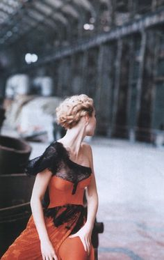 Harper's Bazaar April 1996   Gwyneth Paltrow by Peter Lindbergh Christian Lacroix | Spring 1996 Couture