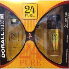 Gift Set 24 Pure By Dorall Collection Eau De Toilette Spray + Aftershave + Deodorant (Misc.)