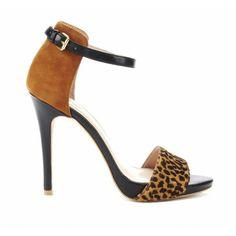 Cuties!  #sandals. #heels. #animal print