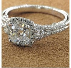 I want this to be what my engagement ring looks like! ❤  INSIGNIA-7068CU engagement ring from the Insignia Collection, featuring 0.65Ct. of round brilliant diamonds to enhance a round diamond center.