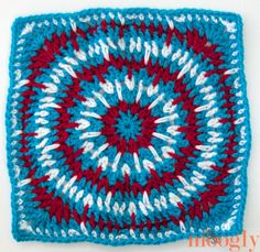 The 2014 Moogly Afghan Crochet-a-Long: Block #13! - Spikey Circle Afghan Square by Julie Yeager