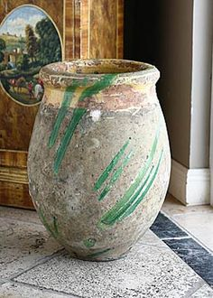 18th Century French Antique Biot Olive Oil Jar