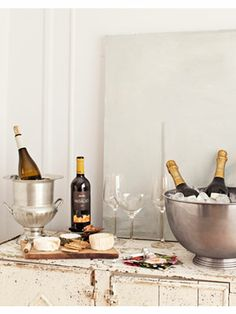 Sommelier/wine expert Shelley Lindgren suggest buying wine in bulk when shopping for a party. This way, you'll always have an extra bottle on hand. #newyearseve #parties