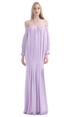 Long sleeved lilac gown #purple