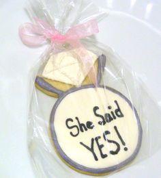 Handmade Custom Wedding Diamond Ring Decorated by SweetRoseCookies, $35.00