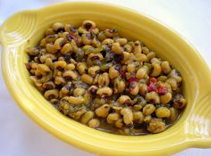 Indian-spiced black eyed peas.