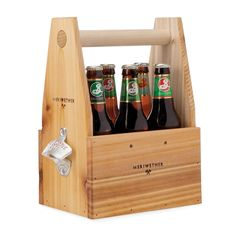 Wooden Beer Tote with Bottle Opener, $40, by Danny Brown