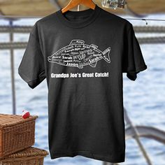 What a Catch! Personalized Adult T-Shirt