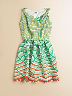DKNY - Girl's Swirl-Stripe Dress - Saks.com