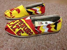 Custom TOMS  Pittsburg State Kansas by LanniBsTreasures on Etsy, $30.00 @Nicole Novembrino Novembrino Novembrino Novembrino Novembrino Novembrino Lucke we need these!