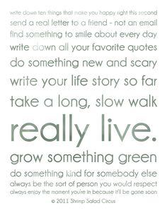 live.  really live.