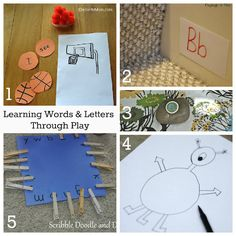 Ideas for teaching letters and words through play
