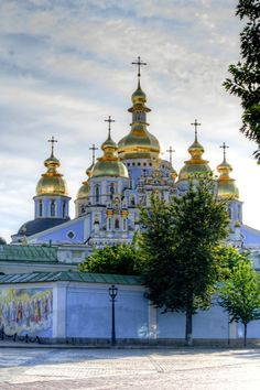 St. Michael's Golden-Domed Monastery  June 2012 - Early Sunday morning, before the crowds arrive!