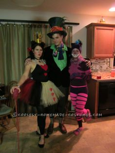 Awesome Homemade Adventure in Wonderland Group Costumes… Coolest Halloween Costume Contest