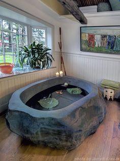 If I have to save up in a jar for years to get a natural stone bathtub, I WILL get a natural stone bathtub.