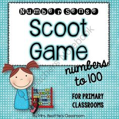Number Sense Scoot Game - Numbers to 100 from Mrs. Beattie's Classroom on TeachersNotebook.com -  (24 pages)  - Number Sense Scoot Game - Numbers to 100