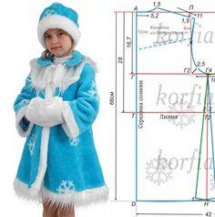 Новогодние костюмы для девочек выкройки снегурочка