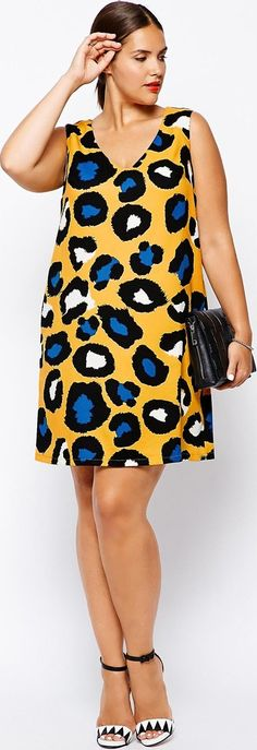 summer fashion plus size 2014 - Women's fashion print dress - article about plus size fashion in prints - http://www.boomerinas.com/2014/08/01/can-fat-women-wear-prints-5-tips-for-plus-size-chicks/