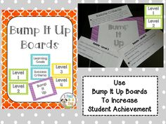 Help your students achieve higher assessment levels by creating bump it up boards in the classroom. ($2.00)
