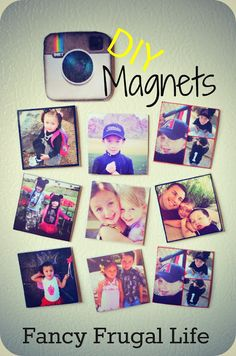 DIY Instagram Magnets |
