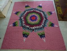 vintage quilts, star quilt