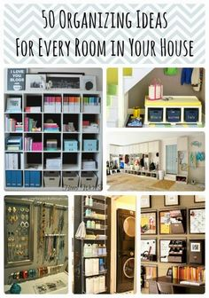 Diy Projects: 50 DIY Organization Ideas For Every Room In Your Home cabinet, hous, diy project