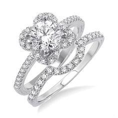 diamond engag, engagements, flower style, style diamond, flowers
