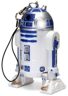 Japanese R2-D2 LED Light Keychain