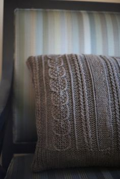 knit pillow, nice and knit