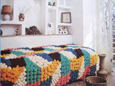 pompom overload blanket