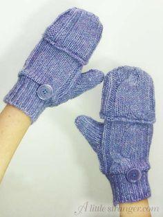 How to make Glittens (fingerless glove-mittens)