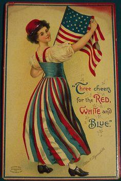 Vintage Fourth of July Postcard.