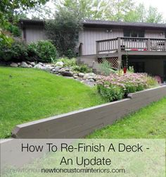 How To Re-Finish A Deck - An Update from NewtonCustomInteriors.com